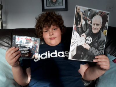 Alfie with signed CD